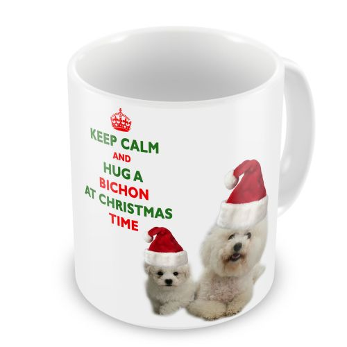 Christmas Keep Calm And Hug A Bichon Novelty Gift Mug